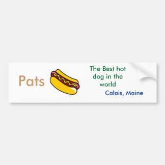 hot dog, Pats , The Best hot dog in the world ,... Bumper Sticker