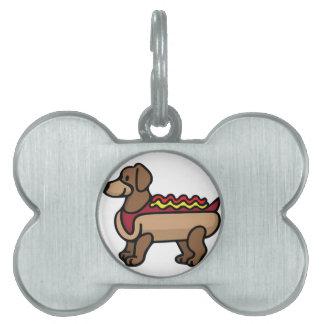 Hot Dog Pet Name Tag