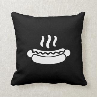 Hot Dog Pictogram Throw Pillow