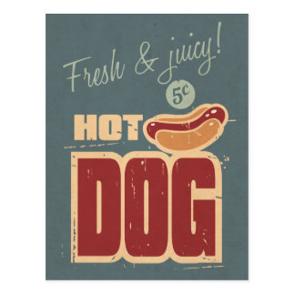 Hot Dog Post Card