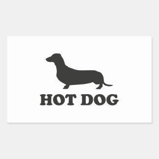 HOT DOG RECTANGULAR STICKER
