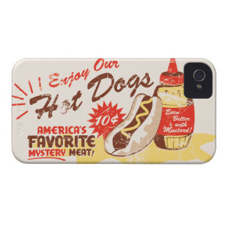Hot Dog Retro iPhone Case Case-Mate iPhone 4 Case