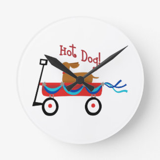 Hot Dog Round Clock