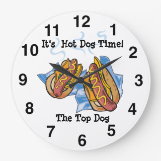 Hot Dog Shop Wall Clock