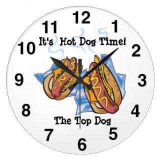 Hot Dog Shop Wall Clock