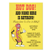 Hot Dog Someone Is Retiring BBQ Invitation