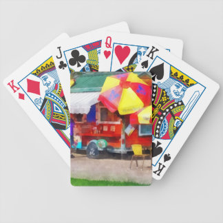 Hot Dog Stand in Mall Bicycle Playing Cards