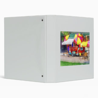 Hot Dog Stand in Mall 3 Ring Binder