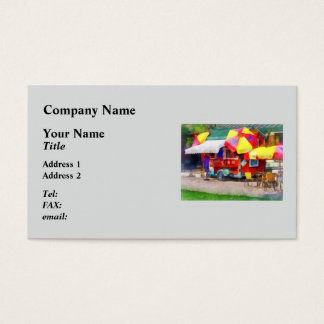 Hot Dog Stand In Mall Business Card