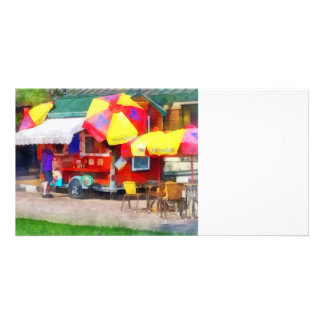 Hot Dog Stand in Mall Personalized Photo Card