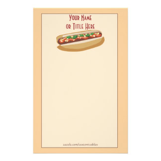 Hot Dog Stationery