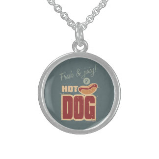 Hot Dog Sterling Silver Necklace