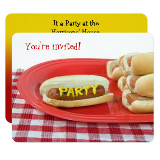 Hot Dog Summer Party Card