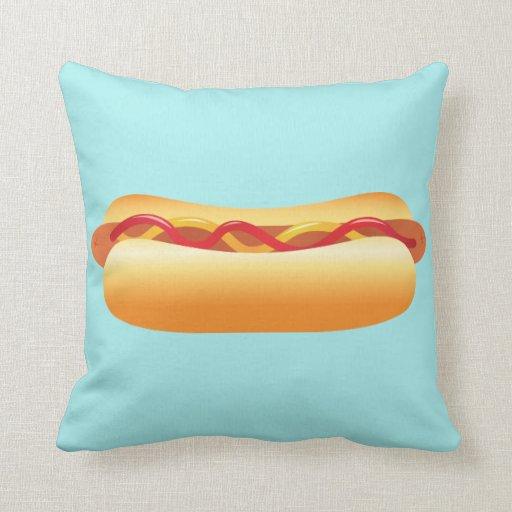 Hot Dog Throw Pillow Zazzle