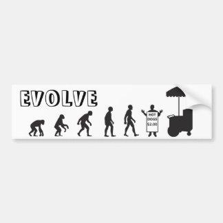 Hot Dog Vendor Evolution Bumper Sticker