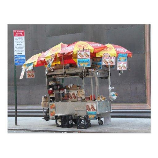 Hot Dog Vendor Post Card