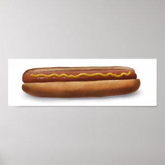 Hot Dog w/ Mustard - Lowbrow Art Poster