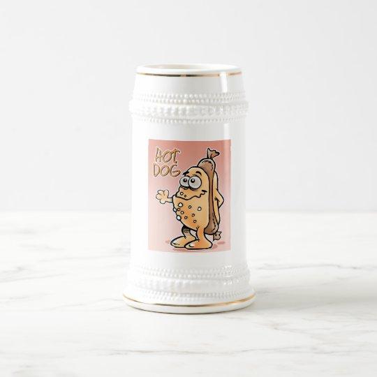 Hot Dog waving Beer Stein