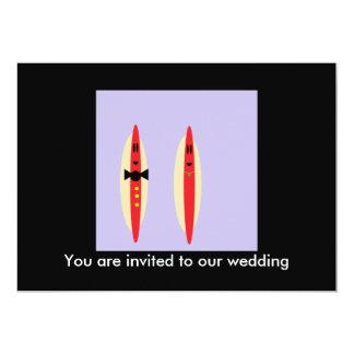 "Hot Dog Wedding 5"" X 7"" Invitation Card"