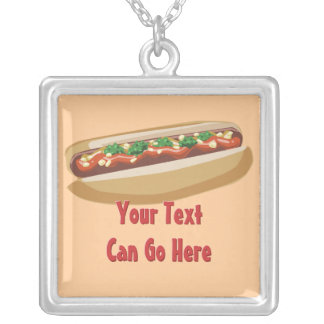 Hot Dog with Everything Necklace