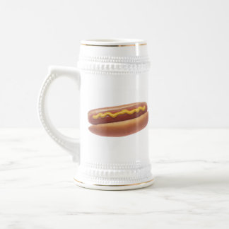 Hot Dog with Mustard Beer Stein