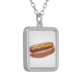 Hot Dog with Mustard Pendants