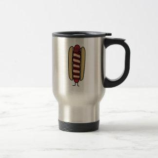 Hot dog wrapped in Bacon Travel Mug