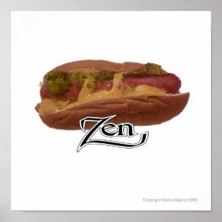 Hot Dog Zen Poster
