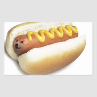 Hot Doge Meme Rectangular Sticker