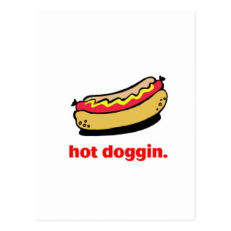 Hot Doggin Postcard