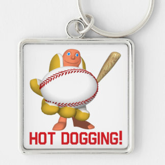 Hot Dogging Keychain