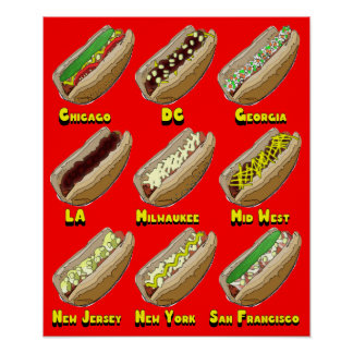 Hot Dogs Across America Poster