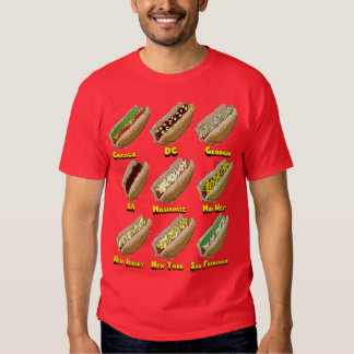 Hot Dogs Across America Tee Shirt