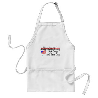 Hot Dogs and Beer Day July 4th Adult Apron