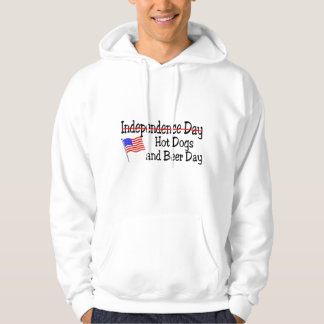Hot Dogs and Beer Day July 4th Hoodie