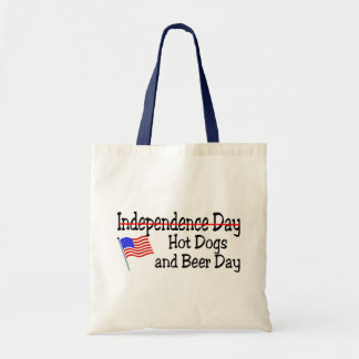 Hot Dogs and Beer Independence Day Budget Tote Bag