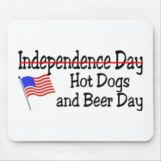 Hot Dogs and Beer Independence Day Mousepads