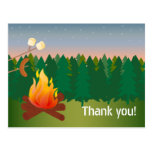 Hot Dogs and S'mores Campfire Thank You Postcard