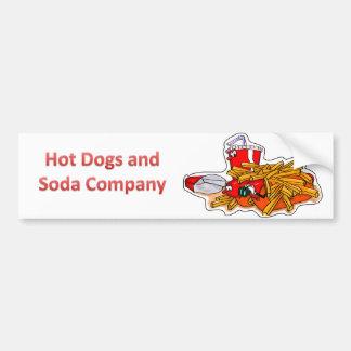 Hot Dogs and Soda Company Car Bumper Sticker