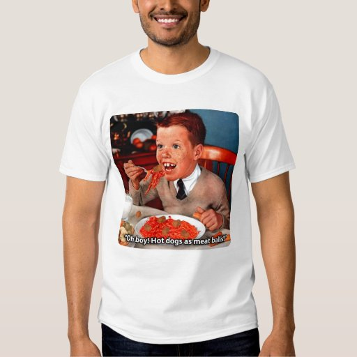 Hot Dogs As Meat Balls T-Shirt