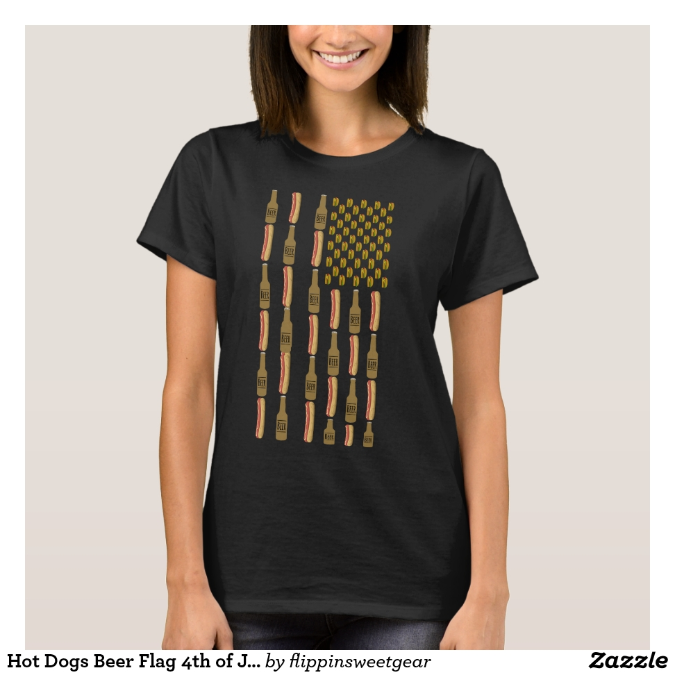 Hot Dogs Beer Flag 4th of July T-Shirt - Best Selling Long-Sleeve Street Fashion Shirt Designs