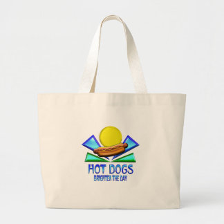 Hot Dogs Brighten the Day Jumbo Tote Bag
