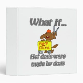 hot dogs by dogs vinyl binder