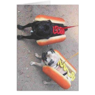 Hot dogs card