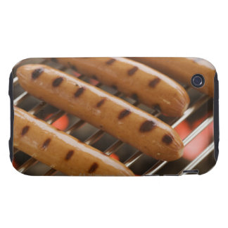 Hot dogs cooking on grill tough iPhone 3 cases