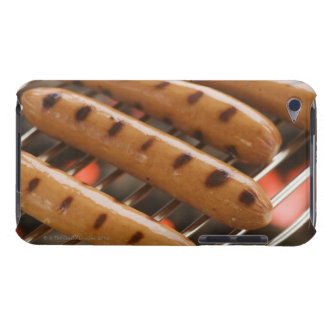 Hot dogs cooking on grill iPod touch cover