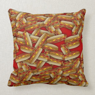 Hot Dogs Galore Pillow