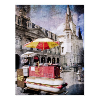 Hot Dogs in the Vieux Carre Postcard