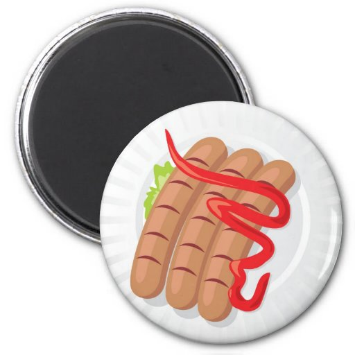 Hot Dogs Picnic Party Magnet