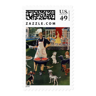 Hot Dogs Postage Stamp